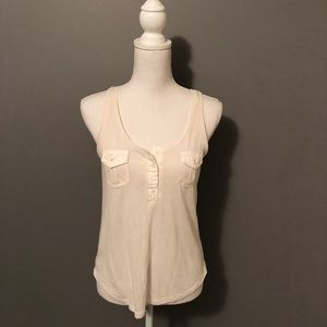 Double-Breasted Pocket Tank Top